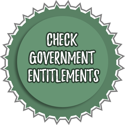 Check government entitlements